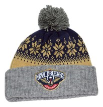 New Orleans Pelicans Mitchell & Ness NBA Basketball Knit Pom Winter Hat ... - $18.99