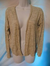 Ann Taylor Loft Gray Cardigan Sweater Stretchy Size Medium M - $13.86