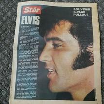 Vintage  Sept 29 1977  The Star Souvenir Pullout Elvis Presley Death Mem... - $12.49