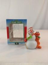 Kurt Adler Sesame Street Snowman And Zoe Christmas Tree Ornament Children - $9.49