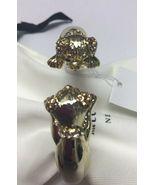Kate Spade Puppy Open Hinged Cuff Bracelet w/ KS Dust Bag - $58.99