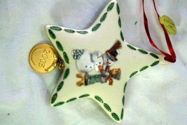 MJ Hummel 2005 Making New Friends Porcelain  Christmas Ornament - $9.00