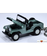 RARE KEY CHAIN GREEN JEEP CJ5 CJ 5 WRANGLER WILLYS KAISER AMC CUSTOM LTD... - $47.98