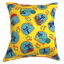 Pete The Cat Pillow Story Book Cat HANDMADE In USA Pillow - $9.99