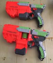 Nerf Vigilon Toy Dart Gun (lot Of 2) W/darts VIBRANT ORANGE & GREEN FUN ... - $18.95