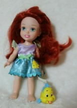 "Disney Tollytots Princess 6"" Doll Ariel With Dress & Pet Flounder Fish  - $19.79"