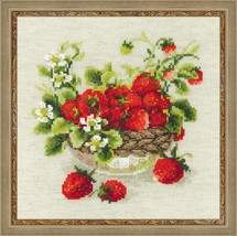 Cross Stitch Kit Riolis Garden Strawberry - $28.00