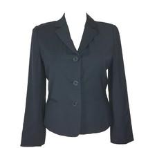 New Talbots Blazer 8 Med Blue Wool Bl Pocket 3 Button Suit Jacket Interview $199 - $99.95