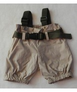 Build A Bear Clothes Fishing Overall Pants Beige & Green EUC - $8.99