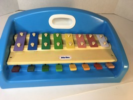 Little Tikes Vintage 1985 Xylophone Piano Tap A Tune Blue Vintage Musical Toy - $22.50