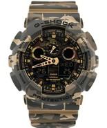 New Casio G-shock GA-100CM-5A Analog Digital Camouflage Resin Band Watch - $140.21
