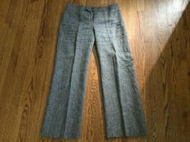 Women's Ann Taylor LOFT Linen Petites Julie Dress Pants Size 6P Tweed - $18.59