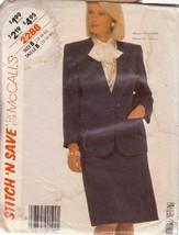 McCALL'S VINTAGE 1985 PATTERN 2288 SIZEs 12/14/16 MISSES' JACKET & SKIRT - $3.90