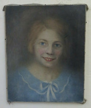 Painting Antique Portrait Painting oil Signed Juliette Joudrier France '... - $417.07