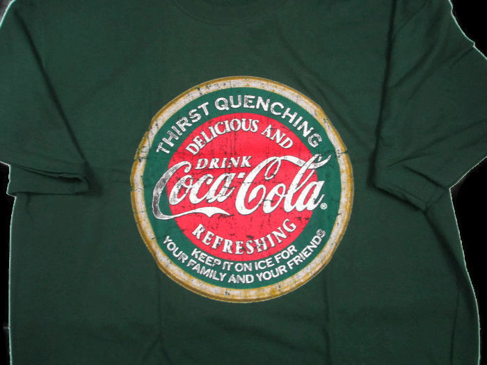 Coca-Cola Thirst Quenching Tee T-shirt Green 2X-Large 2XL - BRAND NEW