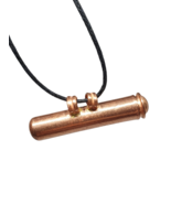 Copper Stash Locket Pendant Vial Pure Copper Chandi Tabiz Taweez Cord Necklace - £13.60 GBP