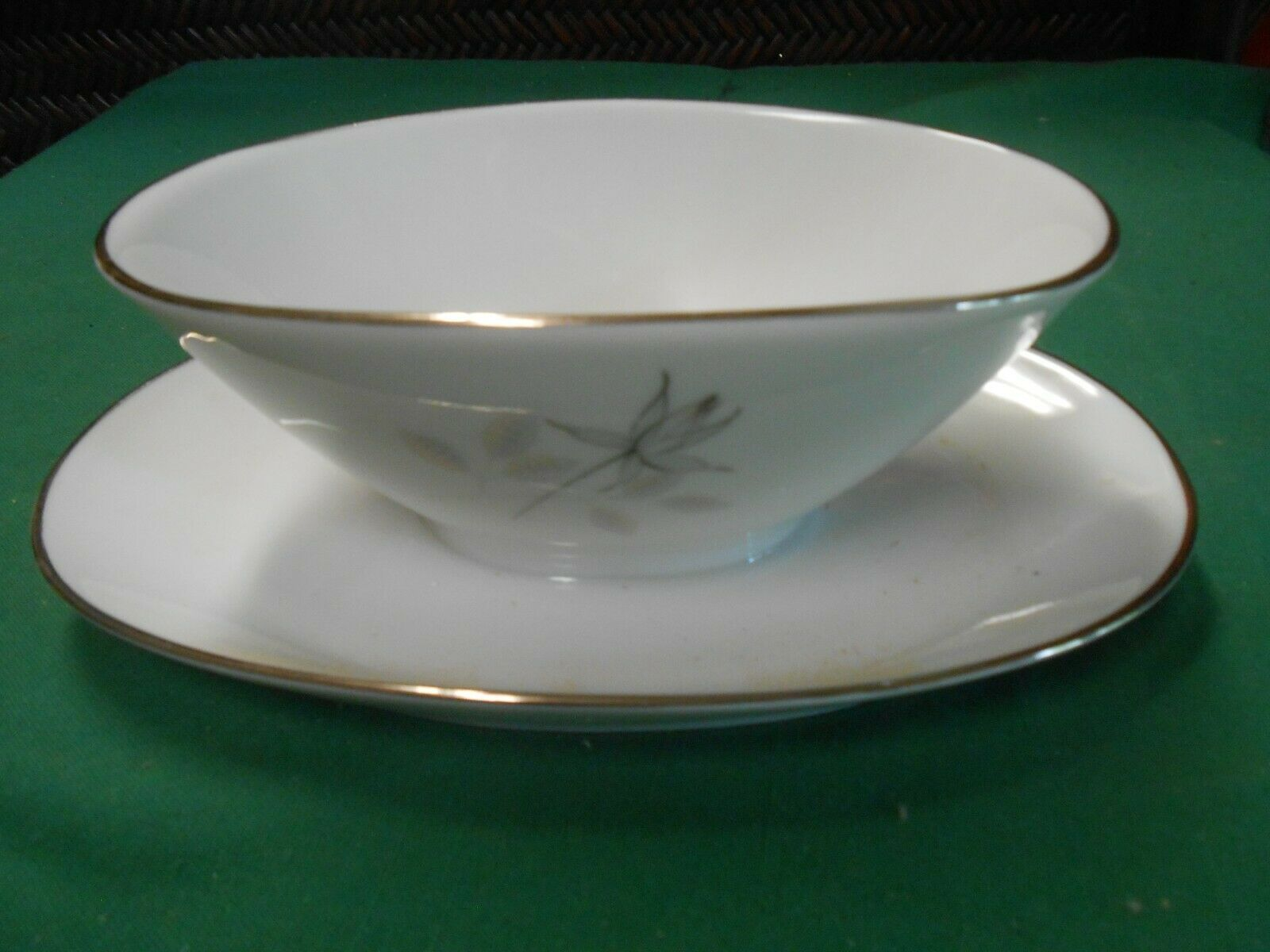 Primary image for  Magnificent ROSENTHAL Germany PEACH BROWN-GRAY ROSE . Attached GRAVY BOAT