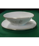 Magnificent ROSENTHAL Germany PEACH BROWN-GRAY ROSE . Attached GRAVY BOAT - $29.29