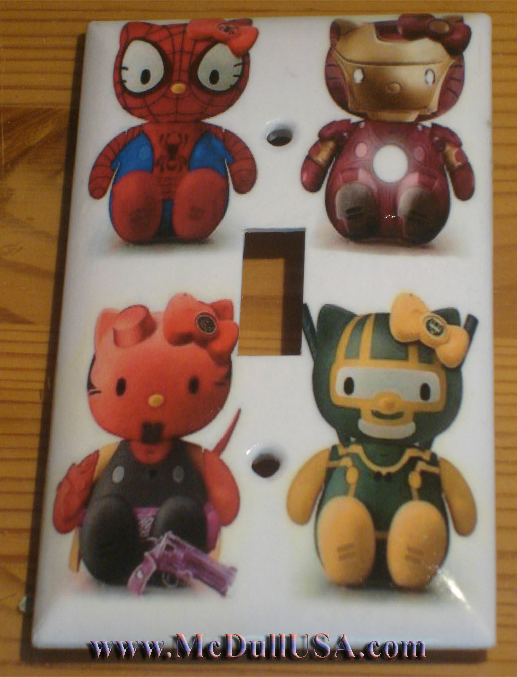 Hello Kitty Spiderman Ironman Light Switch Outlet Wall Cover Plate Home decor