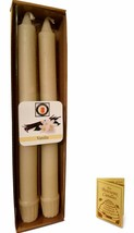 """100 Percent  Pure Beeswax 10"""" Colonial Taper Candle Pair, Vanilla Scent, Tapers - £8.47 GBP"""
