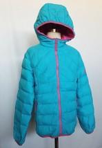 32 Degrees Weatherproof Girl Hooded Jacket Down Lightweight Blue Pink Si... - $16.99