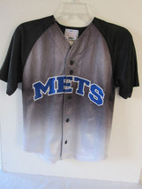 Boys Puma Black To Gray New York Mets Jersey Size S - $8.59