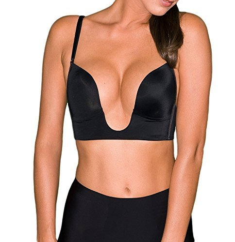 V BRA Max Cleavage Booster Shaper (38D, Black)