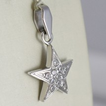 White Gold Pendant 750 18k, Pendant Star, with zirconia, 2.4 cm long image 2