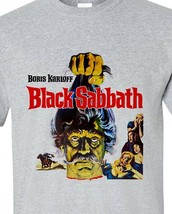 Black Sabbath T-shirt Boris Karloff retro vintage horror movie gray Distressed image 2