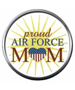 Burst Proud Mom USAF Air Force Support US Military 18MM-20MM Snap Jewelr... - $5.95