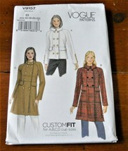 Vogue Pattern V9157 Coat Lined Double Breasted New Factory Folded * - $9.88