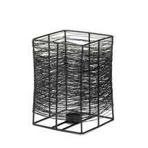 Modern Candle Stand, Black Iron Decorative Candles Holder Stand For Tabl... - $34.99