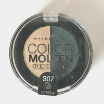 Maybelline New York Color Molten Eye Studio Shadow .07 Oz Teal Twist 307 - $4.84