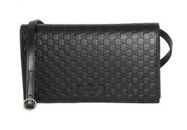 GUCCI 466507 Microguccissima Leather Wallet w/ Detachable Shoulder Strap - £475.20 GBP