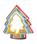 (tree)1 Set(6Pcs) Christmas Tree Cookies Cutter Biscuit Frame Cake Mould... - $18.44 CAD