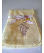 Nuby Baby Soft Fleece Blanket Yellow Mommy Loves Me Monkey Weeplay Showe... - $14.95