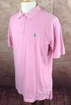 Polo Ralph Lauren Short Sleeve Mesh 100% Cotton Pink Shirt Men's L - $23.75