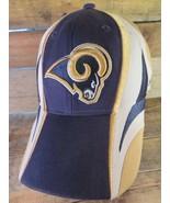 RAMS St Louis Football Los Angeles Reebok Adjustable Strapback Adult Hat Cap - £8.62 GBP