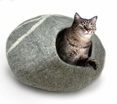 100% Natural Wool Large Cat Cave - Handmade Premium Shaped Felt - Makes ... - £37.19 GBP