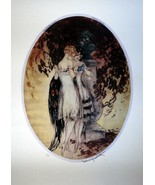 Ladies reading book together sisters art deco signed 5 x 7 Louis Icart  ... - $1.88