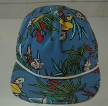 Vans Off The Wall Blue Flamingo Parrot Floral Tropical Hat Cap Snapback  - $12.86
