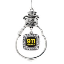 Inspired Silver 911 Dispatch Classic Snowman Holiday Christmas Tree Ornament Wit - $14.69