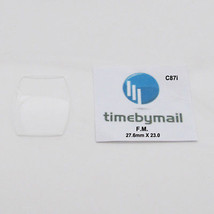 For FRANCK MULLER Watch 27.6mm X 23mm X 1mm Glass Crystal New Spare Part C87i - $37.30