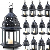 "Lot 15 Ornate 12"" Metalwork Lantern Moroccan Styling Candle Holder Centerpieces - $165.33"