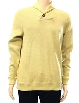 Tasso Elba Men's Yellow Golden Heather Shawl Collar Ribbed Pullover Sweater - $489,26 MXN