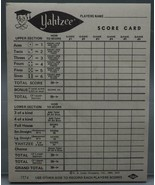 Vintage Yahtzee Score Card Book 1972 - $9.89