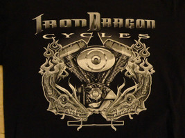 BLACK IRON DRAGON CYCLES  MOTORCYCLE  T Shirt ADULT M  Excellent  - $17.81