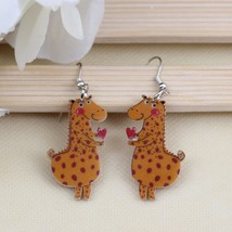 1 pair lovely cute griffi printing drop earrings acrylic new 2014 design... - $9.19