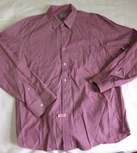 J.Crew Plaid shirt front buttons cotton Men Sz XL Cherry and white Once worn - $13.99