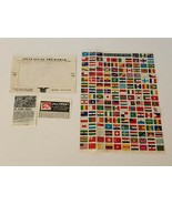 166 Different Flags of the World Stamps Labels for Stamp Albums H E Harr... - $19.99